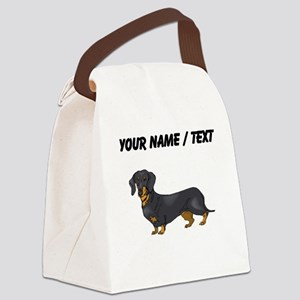 Dachshund (Custom) Canvas Lunch Bag